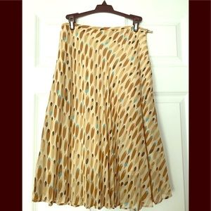 Mango Pleaded Midi Skirt, size 4